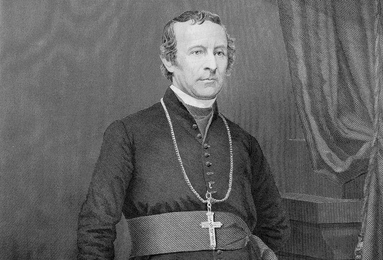 Engraved portrait of Archbishop John Hughes