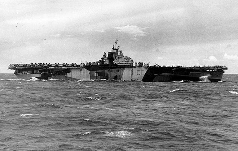 USS Franklin (CV-13) in the Pacific