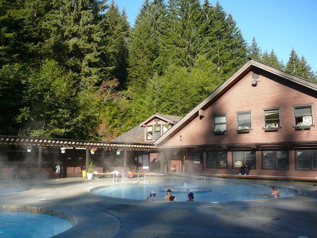Soaking Pools at Sol Duc Hot Springs Resort