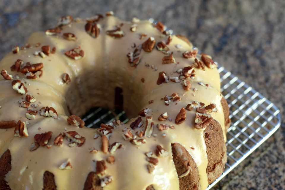 Apple Bundt Cake With Caramel Glaze