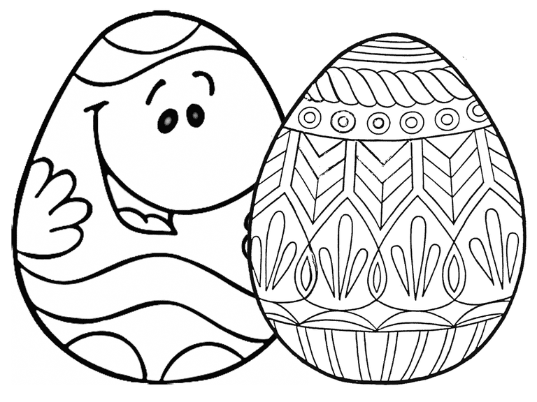 easter egg coloring pages at coloringws - Easter Egg Coloring Pages