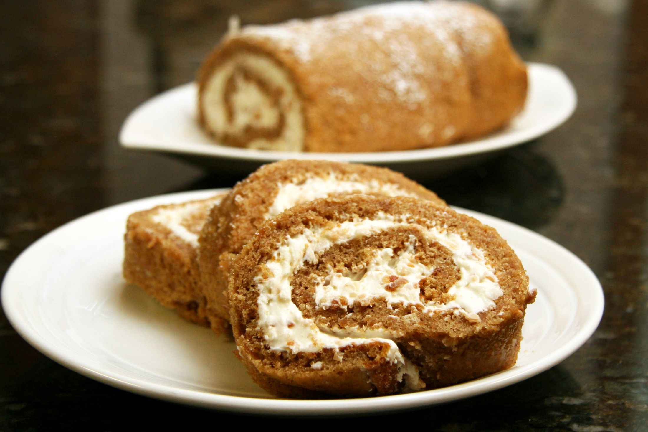 Sweet Potato Cake Roll With Cream Cheese Filling