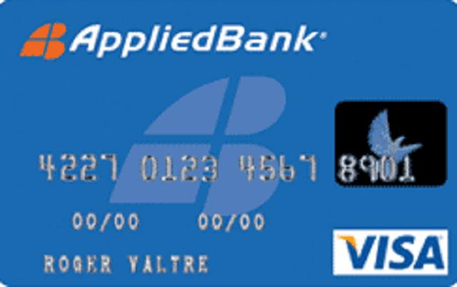 Applied Bank Secured Visa Card