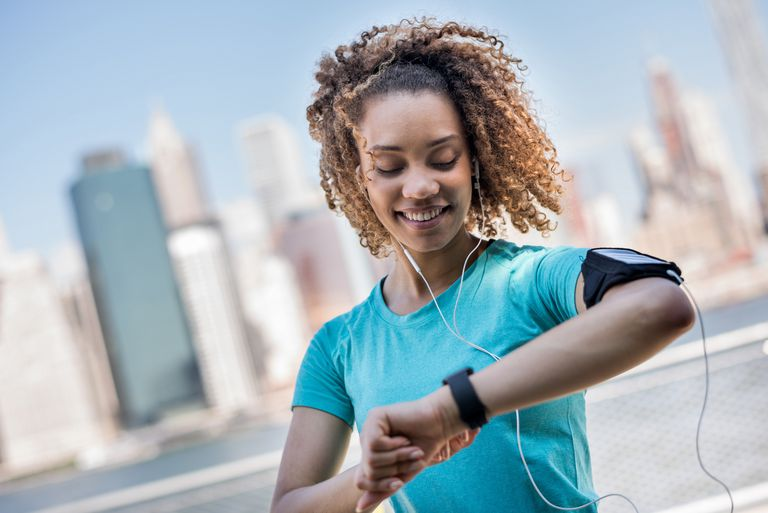 Woman Checking Fitness Watch
