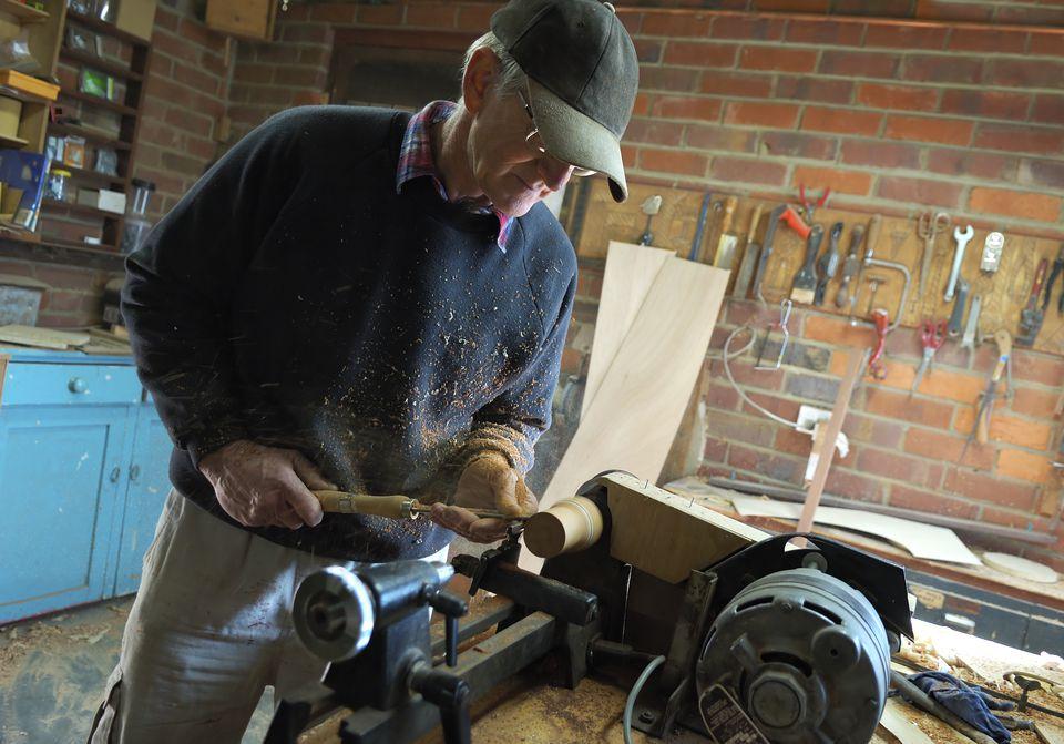 Carpenter wood turning