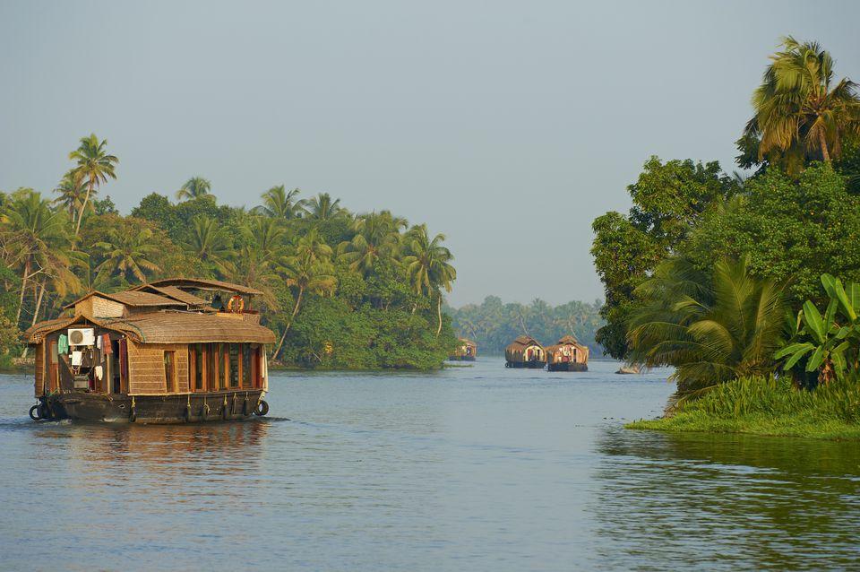 Houseboats on Kerala Backwaters.