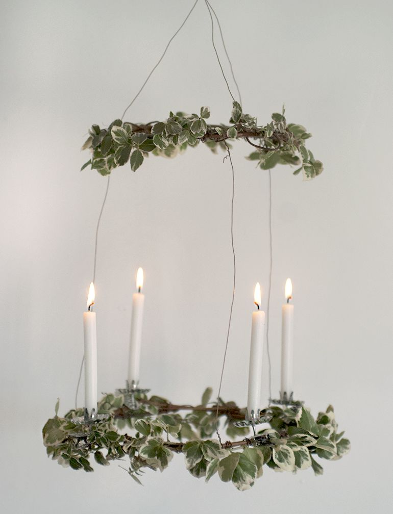 DIY Hanging Advent Wreath