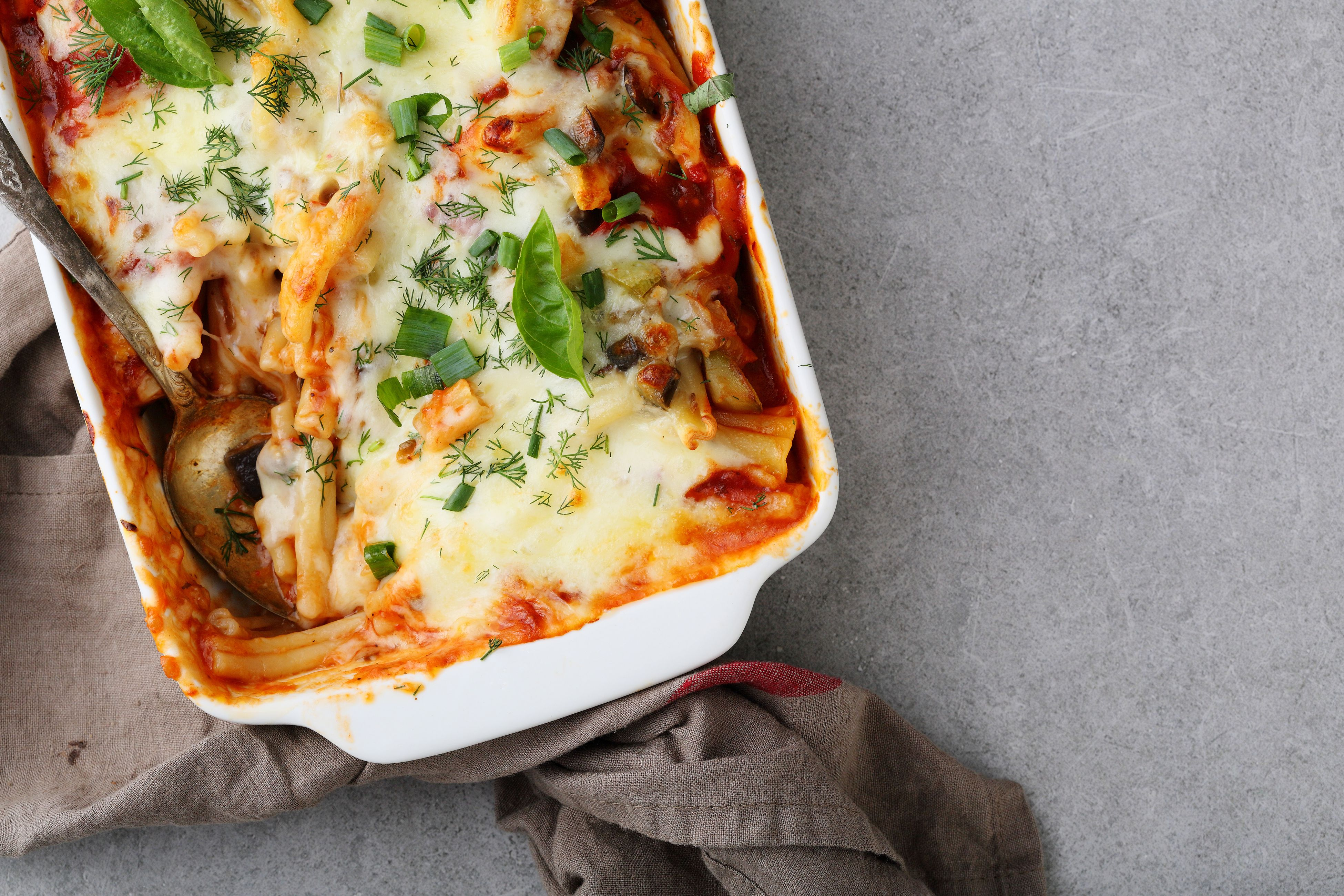 Vegetarian Oven Baked Pasta Recipe