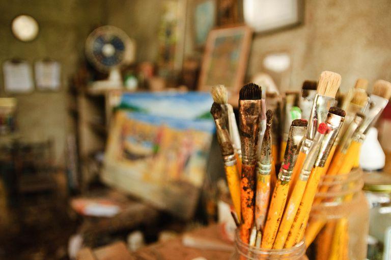 Estudio de un pintor