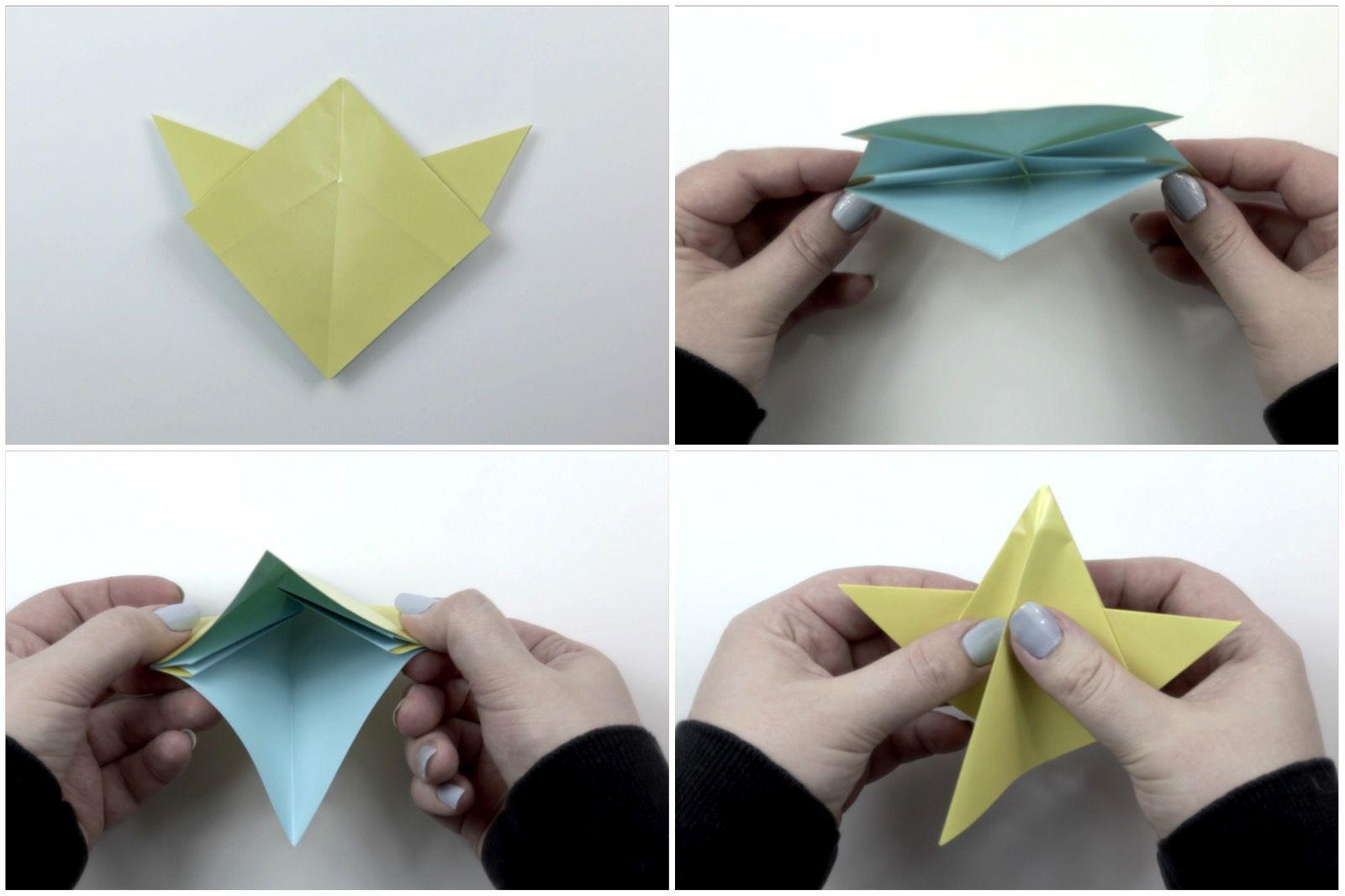 Modular 5-point star.   Sterne falten anleitung, Origami sterne ...   1066x1600