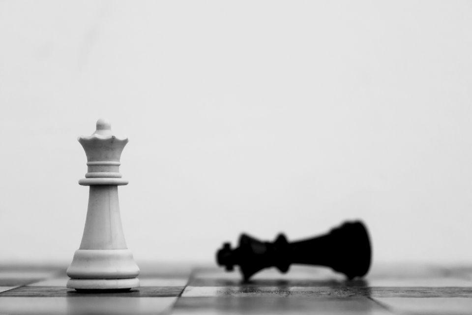 Detail Shot Of White Chess Piece