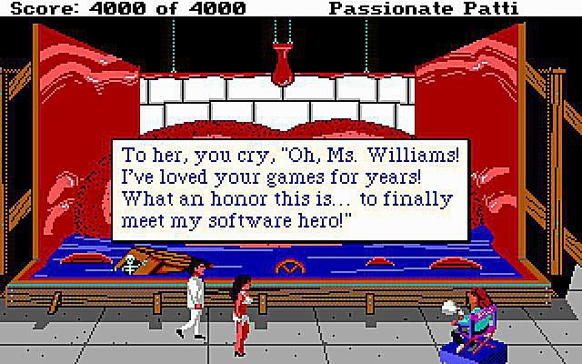 Roberta Williams makes a cameo in Leisure Suit Larry 3.