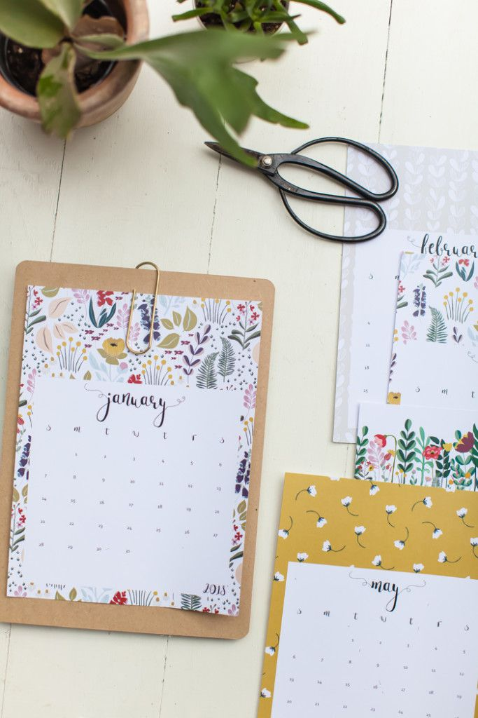 13 Free Printable Calendars For 2018