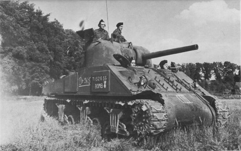 Sherman Tank in the field