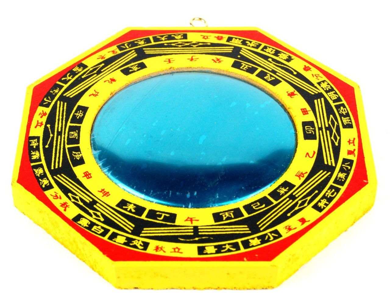 Feng shui use of the bagua or pa kua mirror for Chinese feng shui house