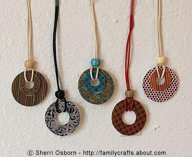 Shrink plastic art projects and tutorials make shrink plastic washer pendants aloadofball Choice Image