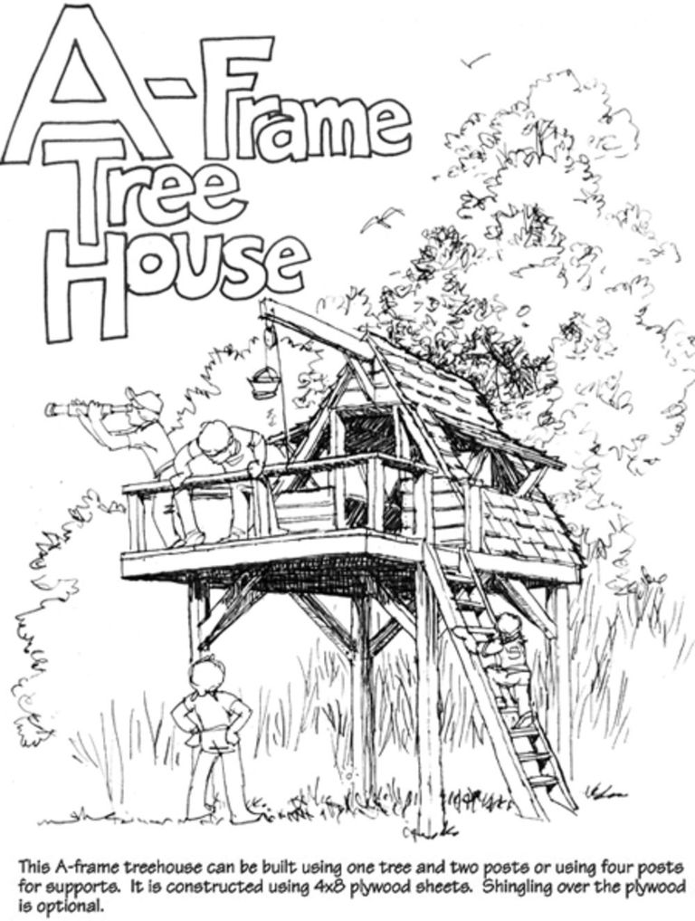 a frame treehouse from outdoor life