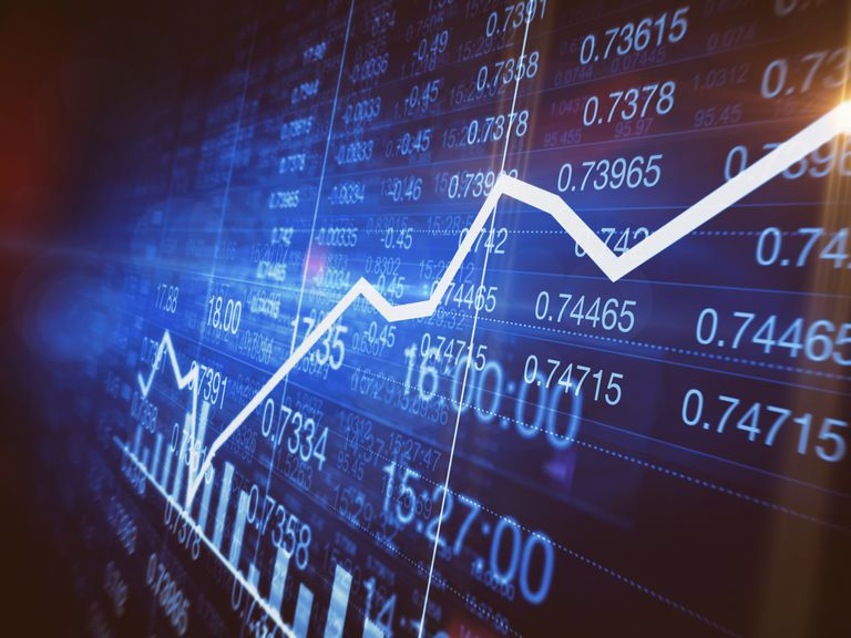 Improvement in line graph on stock market trading screen