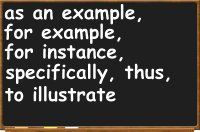 example and exemplification