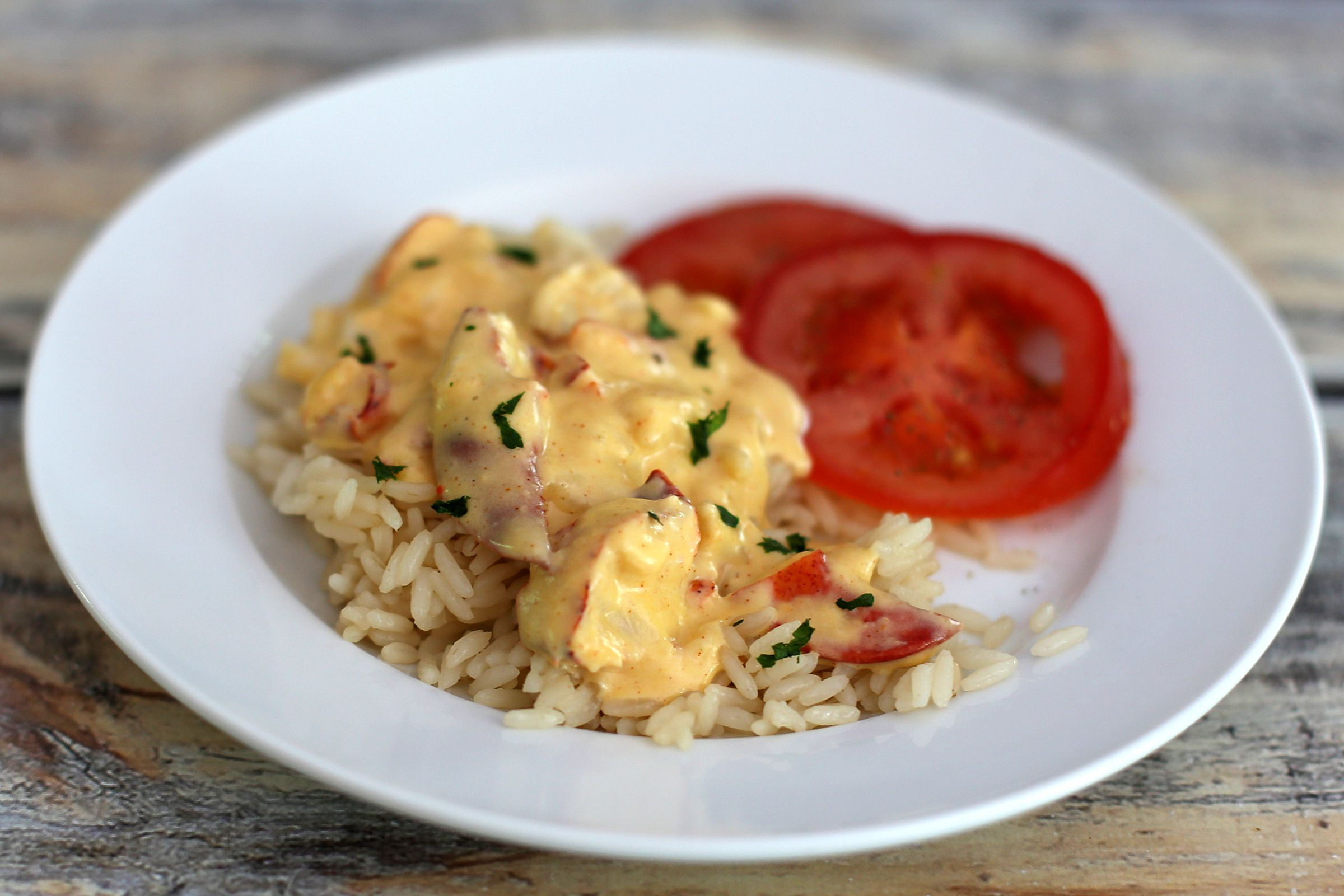 Lobster Newburg With Rice Recipe