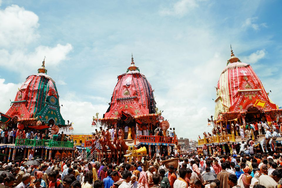 View of Puri Jagannadh Radh yatra, Orissa