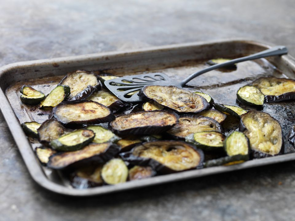 Broiled eggplant