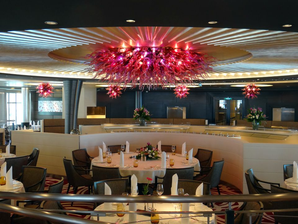 Weltmeere Restaurant on the Europa 2 cruise ship