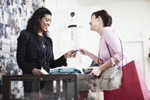 Store clerk and customer