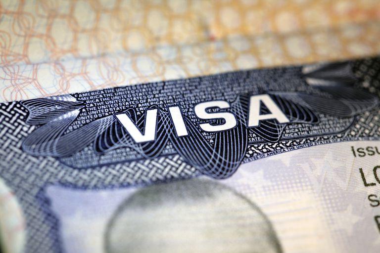 Fotografía de una visa americana