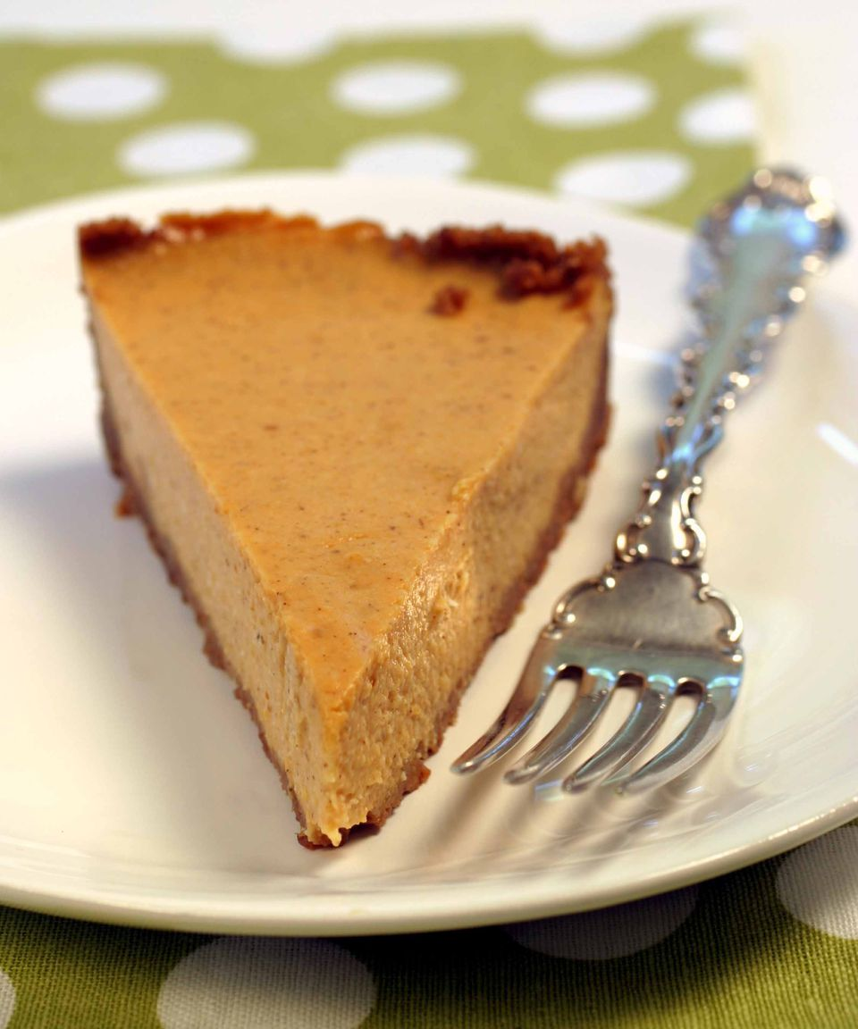 Pumpkin cheesecake - reduced fat with tofu