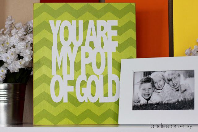 DIY You Are My Pot Of Gold Art