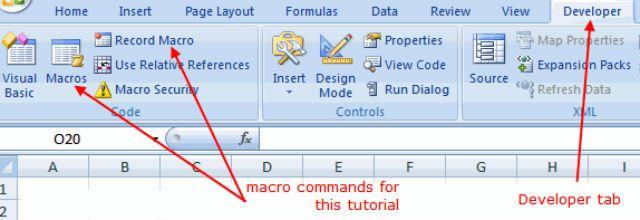Excel Macro Recorder