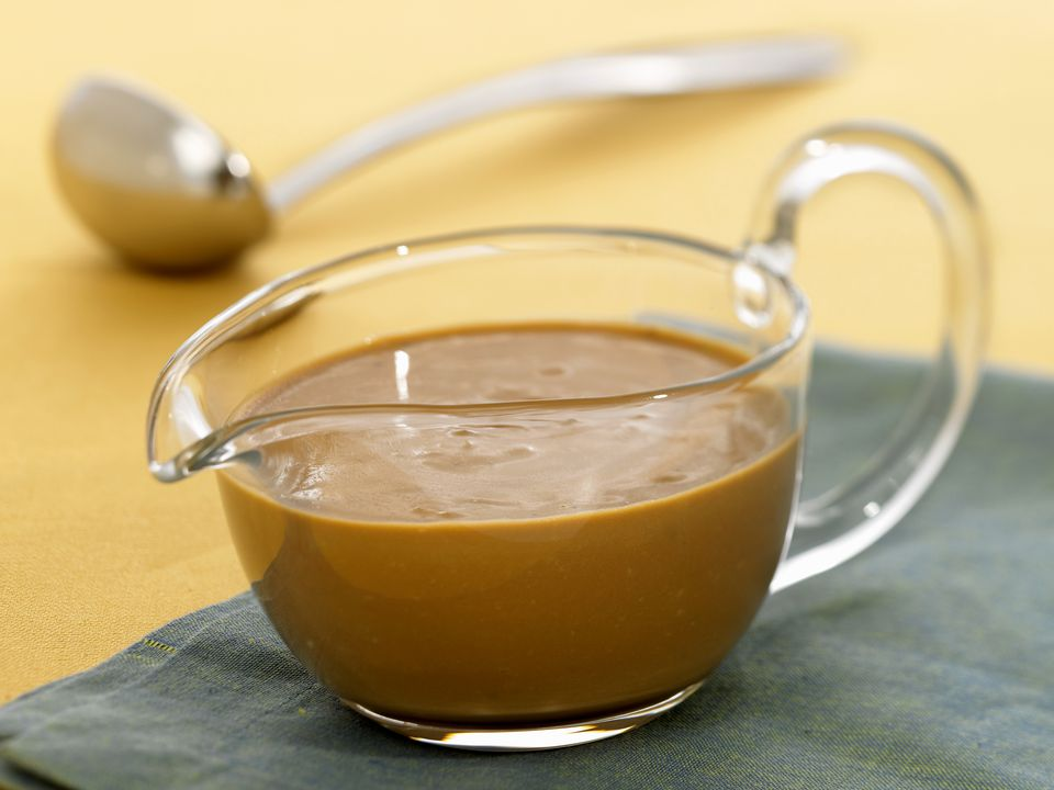 Gravy in a Glass Pitcher, Ladle