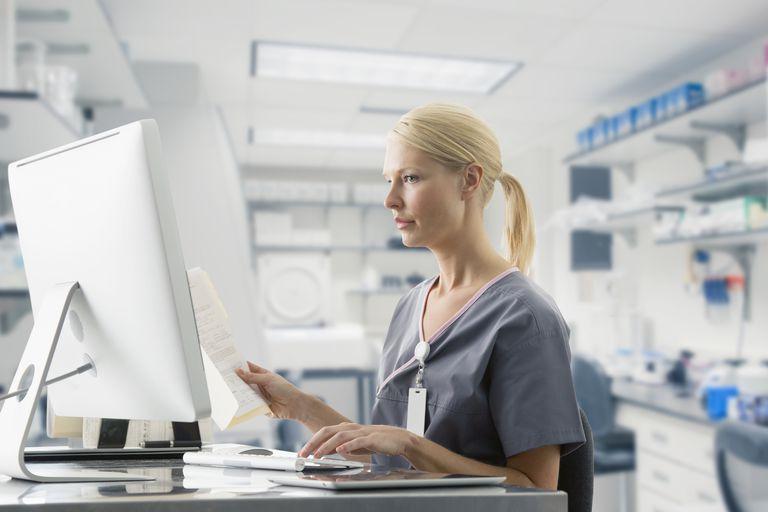 medical biller performing her job duties