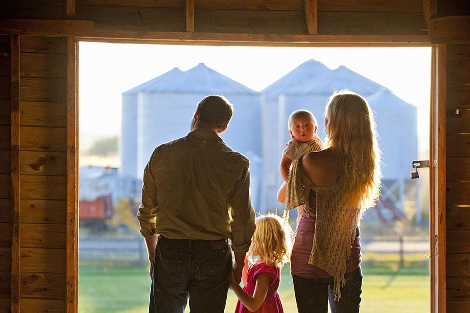Small farm family.