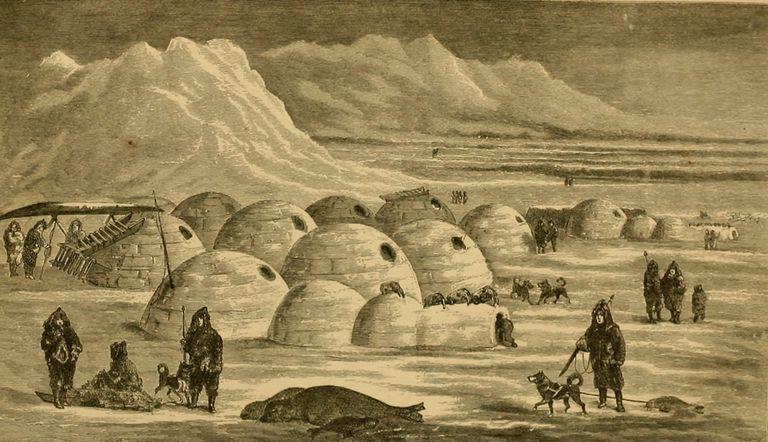 Twerpukjua Snow Village near Nunivak Island, Bering Sea