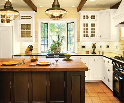 Photos of cool warm color scheme ideas for Earthy kitchen ideas