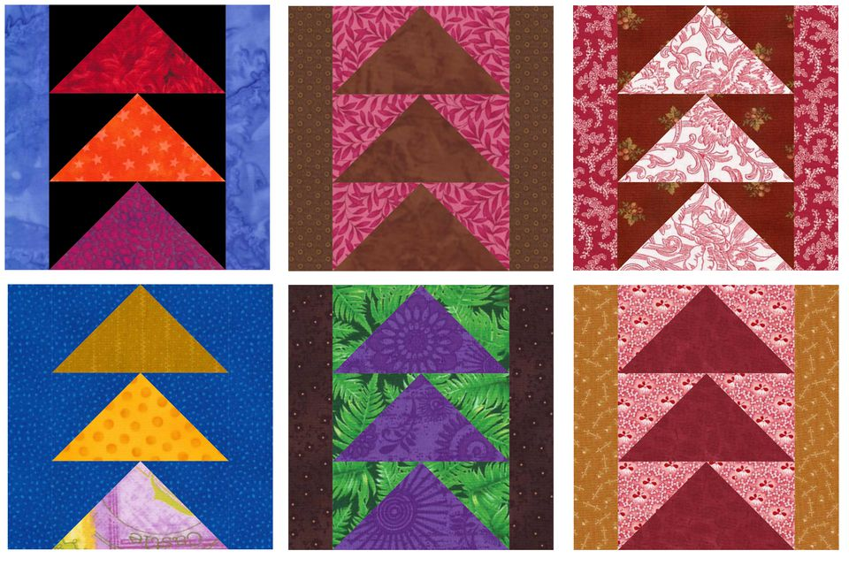 Flying Geese Quilt Block Pattern