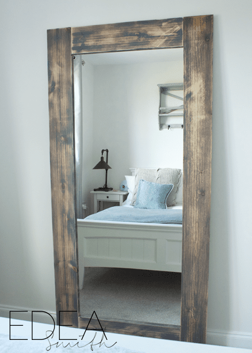 DIY bedroom decor project ideas - full length mirror ikea hack