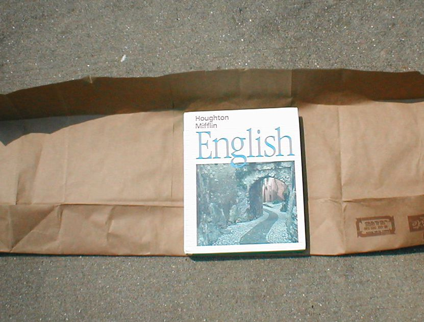 How To Cover Book With Newspaper : How to make a book cover with paper bag