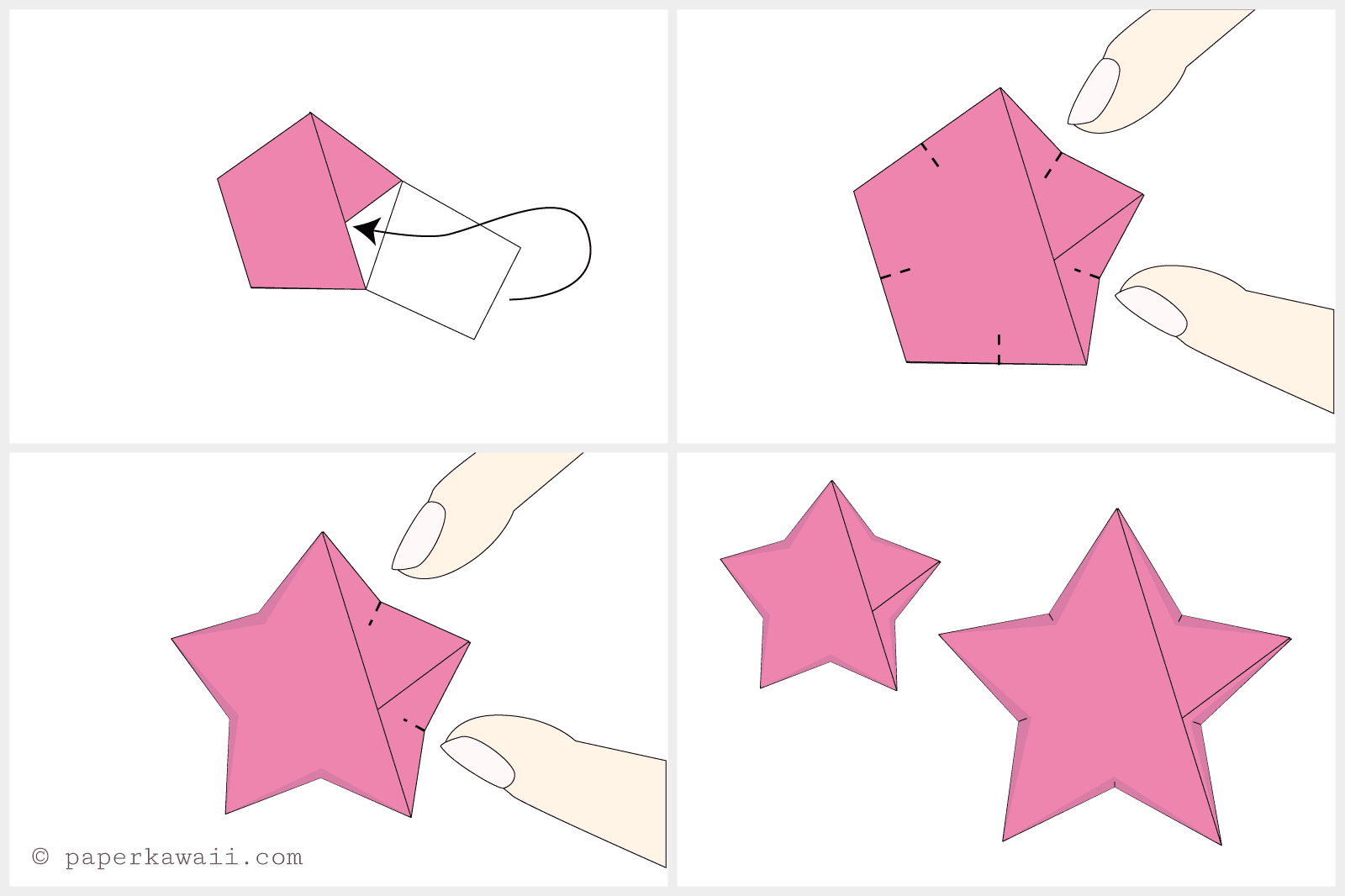 How to make origami lucky stars jeuxipadfo Choice Image