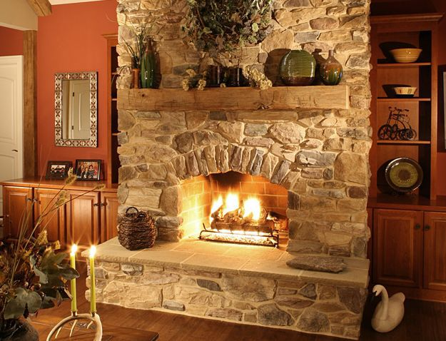 Stone Fireplace Surrounds Photo Gallery and Ideas