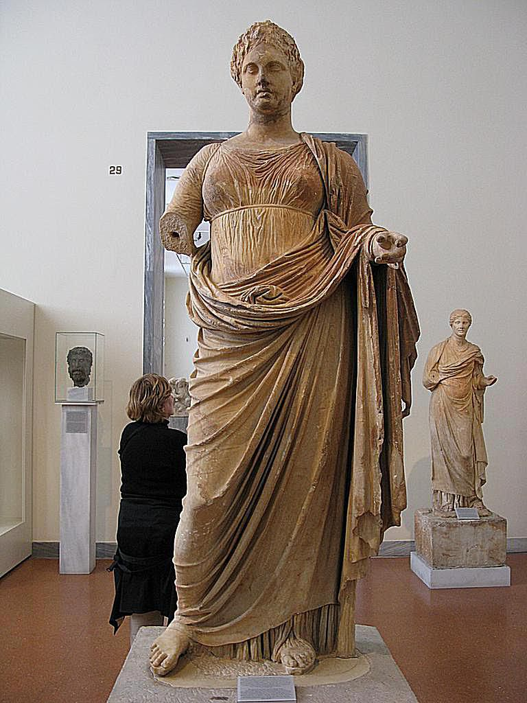 Themis carved by Chairestratos of Rhamnous - Dedicated to Themis by Megakles c. 300 B.C.