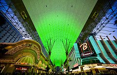 fremont street experience, downtown vegas, worlds largest tv