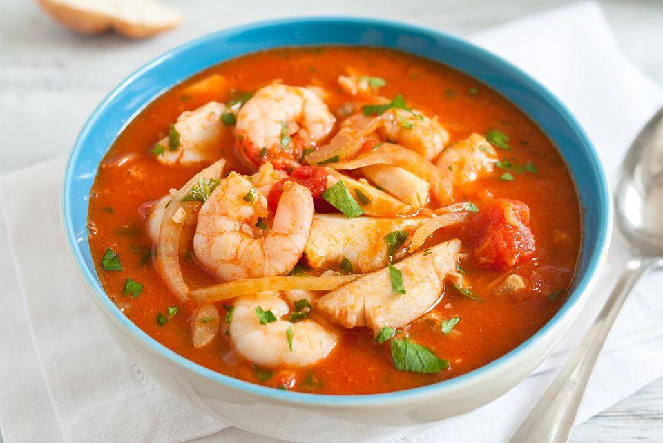 Prawn and fish stew