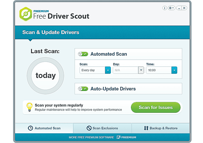 Screenshot of Free Driver Scout in Windows 8