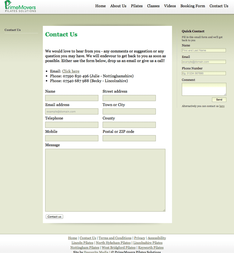 how to create an email form