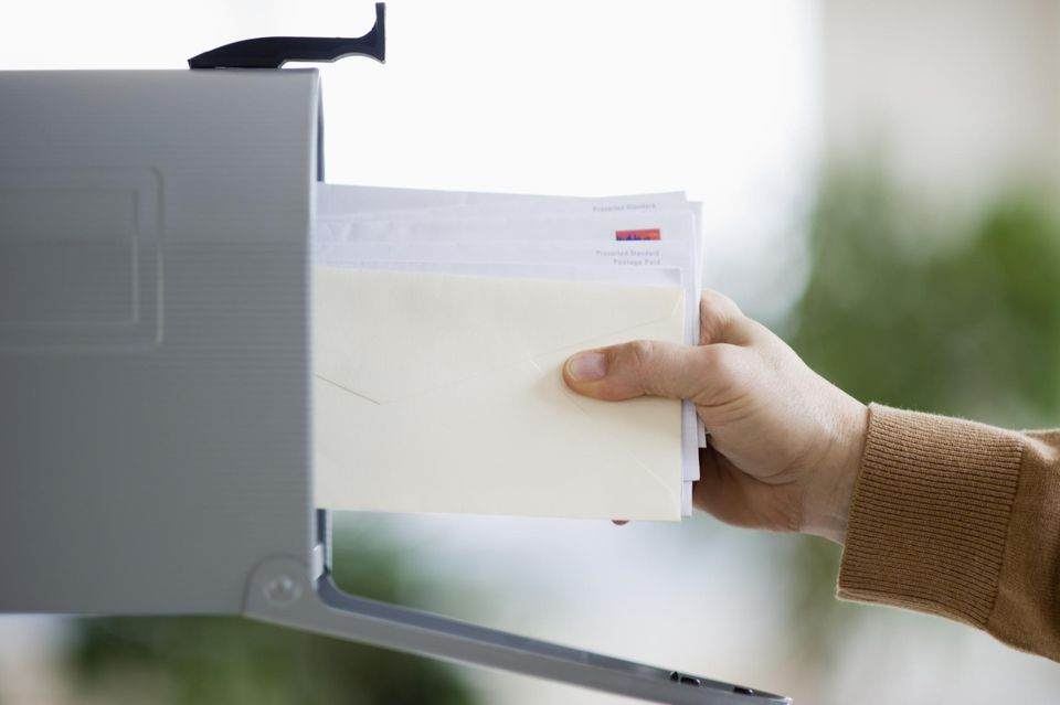 Pulling mail out of mailbox