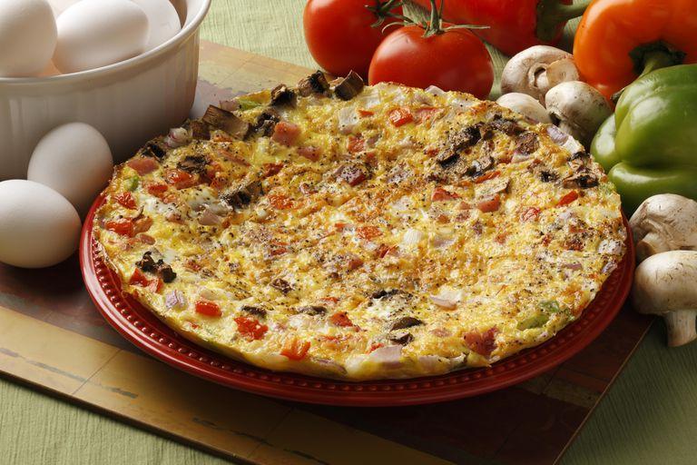 Egg fritatta with fresh vegetables