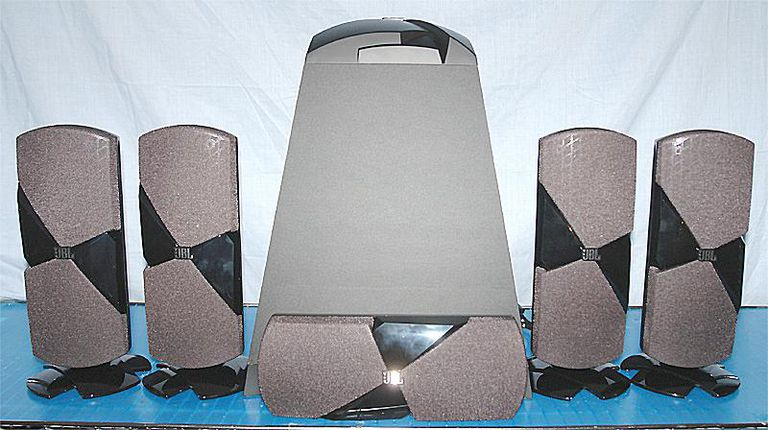 JBL Cinema 500 Home Theater Speaker System - Front View